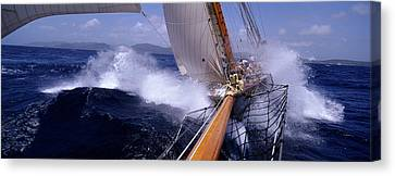 Yacht Race, Caribbean Canvas Print by Panoramic Images