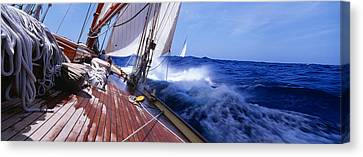 Sail Boats Canvas Print - Yacht Race by Panoramic Images