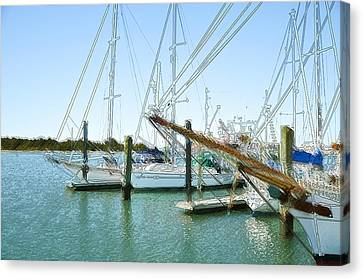 Summer Canvas Print - Yachts In A Port 15 by Lanjee Chee