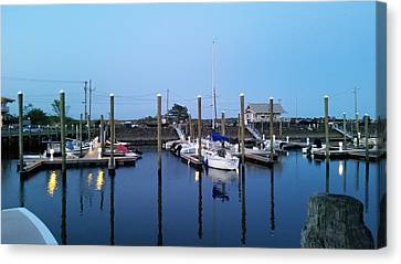 Yachts In Dock Canvas Print