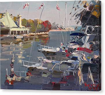 Yachts In Port Credit  Canvas Print by Ylli Haruni