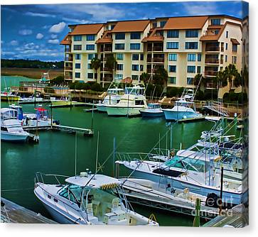 Yachts Of The Rich And Famous Canvas Print by Dave Bosse