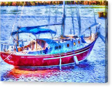 Boating - Coastal - Yachtsman's Dream Canvas Print by Barry Jones