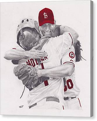 Yadi And Waino Canvas Print by Robert Douglas