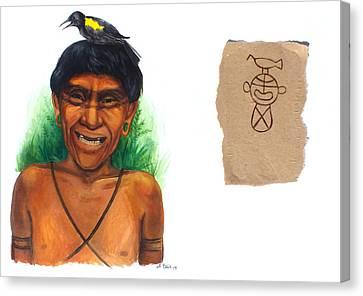 Yahubaba Canvas Print by Alejandra Baiz