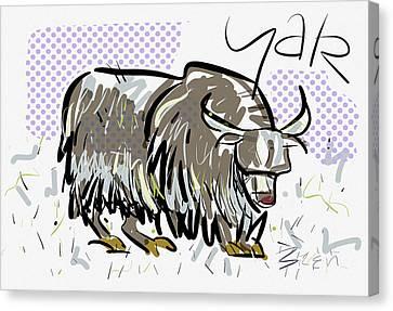 Yak Canvas Print by Brett LaGue