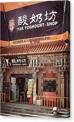 Yak Yoghourt Shop Canvas Print by Joan Carroll