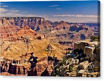 Yaki Point 7 The Grand Canyon Canvas Print by Bob and Nadine Johnston