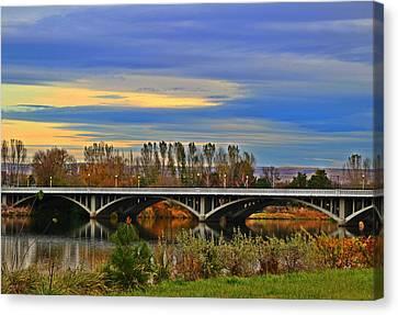 Yakima River Bridge Canvas Print