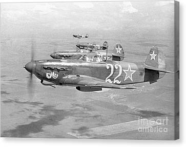 Yak Canvas Print - Yakovlev Yak-9 Fighters, 1942 by Ria Novosti