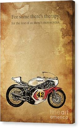 Yamaha - For Some There's Therapy Canvas Print by Pablo Franchi