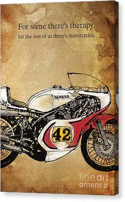 Yamaha 42 Quote Canvas Print by Pablo Franchi