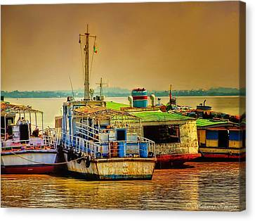 Yangon Harbour Canvas Print by Wallaroo Images