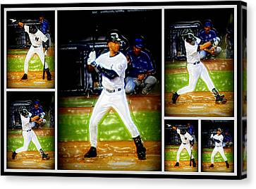 Yankee Captain Derek Jeter Canvas Print by Aurelio Zucco