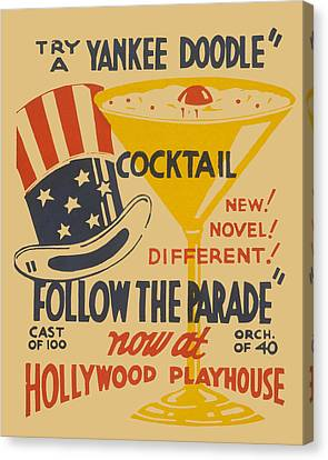 Canvas Print featuring the painting Yankee Doodle Cocktail by American Classic Art