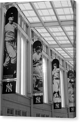 Yankee Greats Of Yesteryear In Black And White Canvas Print by Aurelio Zucco