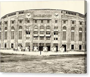 Yankee Stadium Canvas Print by Bill Cannon