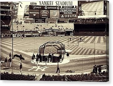 Yankee Stadium Canvas Print by CD Kirven