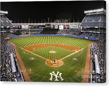The Houses Canvas Print - Yankee Stadium by Chuck Spang