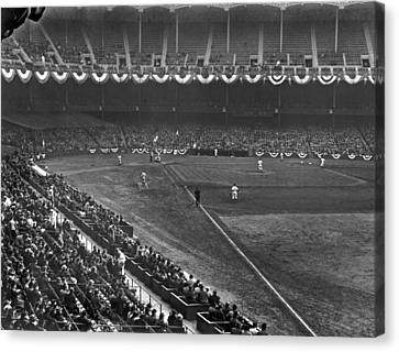 Yankee Stadium Game Canvas Print by Underwood Archives