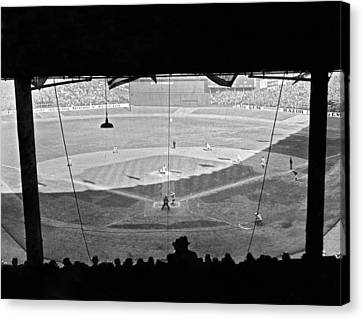 Yankee Stadium Grandstand View Canvas Print by Underwood Archives