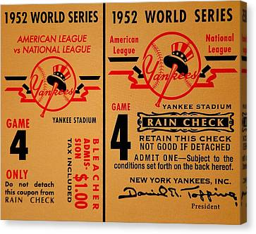 Yankees 4th Straight - Vintage Canvas Print