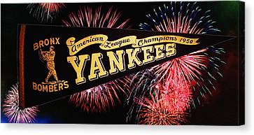 Yankees Pennant 1950 Canvas Print by Bill Cannon