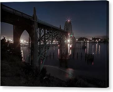 Yaquina Bay Bridge - Newport Oregon Canvas Print by Daniel Hagerman