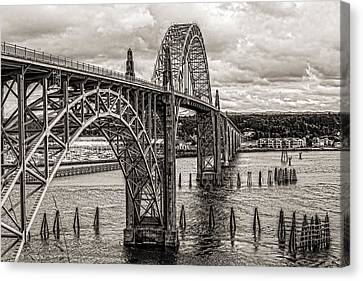Yaquina Bay Bridge Canvas Print by Thomas J Rhodes