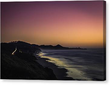 Yaquina Car Trails Canvas Print by Colby Drake