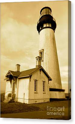 Yaquina Head Gone Sepia Canvas Print by Sheldon Blackwell