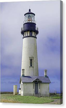 Canvas Print featuring the photograph Yaquina Head Lighthouse by Dennis Bucklin