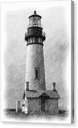 Yaquina Lighthouse Canvas Print by Dennis Bucklin