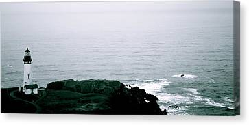 Yaquina Shores Canvas Print by Sheldon Blackwell