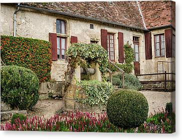 Yard In Apremont-sur-allier Canvas Print