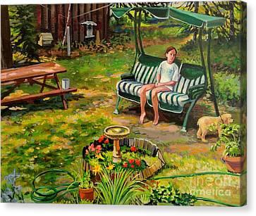 Yard Swing Canvas Print