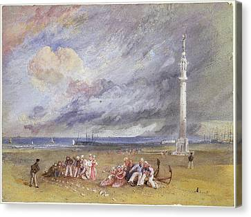 Yarmouth Sands Canvas Print by Joseph Mallord William Turner