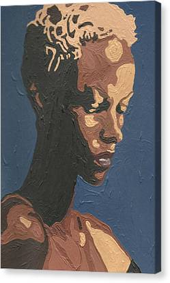 Canvas Print featuring the painting Yasmin Warsame by Rachel Natalie Rawlins