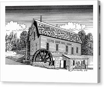 Yates Cider Mill Canvas Print by J W Kelly