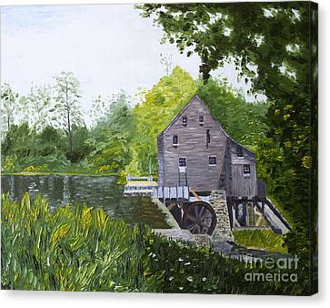 Yates Mill Summer Canvas Print by Kevin Croitz