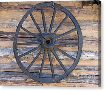 Yates Mill Wagon Wheel Canvas Print by Kevin Croitz