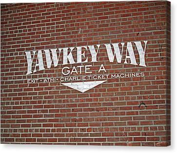 Yawkey Way Canvas Print by Barbara McDevitt