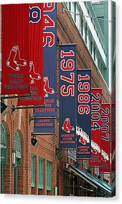 Yawkey Way Red Sox Championship Banners Canvas Print by Juergen Roth