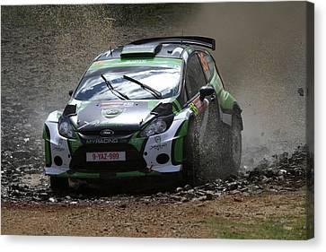 Yazeed Al Rajhi Fia World Rally Championship Australia 2013 Canvas Print