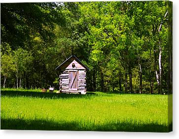 Canvas Print featuring the photograph Ye Old Cabin by Andy Lawless