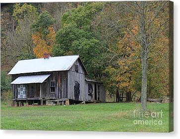 Ye Old Cabin In The Fall Canvas Print