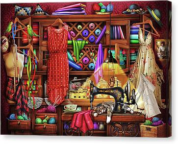 Canvas Print featuring the drawing Ye Olde Craft Room by Ciro Marchetti