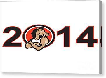 Year Of Horse 2014 Mascot Canvas Print by Aloysius Patrimonio