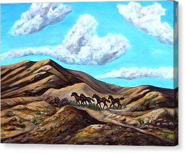 Year Of The Horse Canvas Print by Caroline Owen-Doar