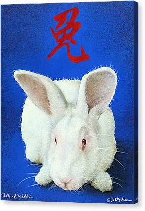Year Of The Rabbit... Canvas Print by Will Bullas